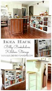 ikea hack kitchen island golden boys and me bookshelves turned kitchen island ikea hack