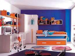 blue and orange decor blue and white wall paint decoration wardrobe bedstead drawer