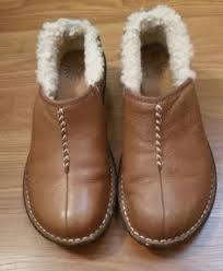 s ugg australia brown emalie boots ugg emalie brown wp leather sheepskin wedge ankle boots us