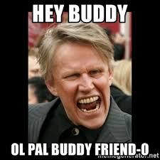Hey Buddy Meme - hey buddy ol pal buddy friend o insane gary busey meme generator