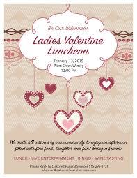 Lunch Invitation Card Ladies Valentine Luncheon