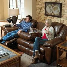 Fabric Sofa Recliners by Interior Impressive Spartan Reclining Sofa With Drop Down Table