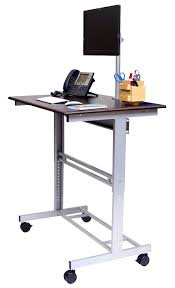 Ikea Sit Stand Desk Stand Up Desk Mobile Adjustable Height Stand Up Desk With Monitor
