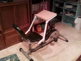 Desks For Laptops by Laptop Desk For Stationary Recumbent Exercise Bicycle 5 Steps