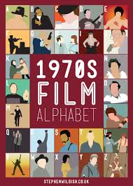film quiz poster 1970 s film alphabet poster that quizzes your 1970s movie knowledge