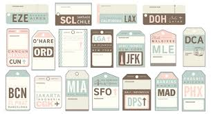 themed luggage tags vintage luggage tag travel cards by anthologiepress on etsy