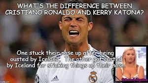 Cristiano Ronaldo Meme - ronaldo v iceland imgflip