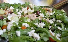 healthy greek style chicken chop salad