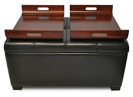 Leather Top Ottoman Top Brown Leather Ottoman Coffee Tables