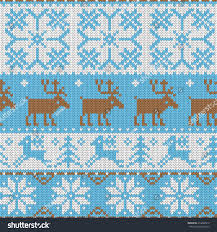 seamless pattern ornaments jacquard knitting image stock vector