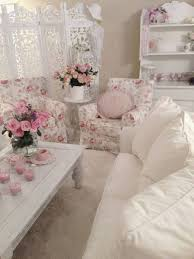 Shabby Chic Living Room by Shabby Chic Style Living Room With White Sofa And Floral Arm