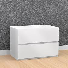 traffic contemporary 2 drawer nightstand white nightstands