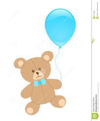 teddy balloons teddy with blue balloon stock illustration illustration of