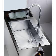 Overmount Kitchen Sinks Stufurhome Nationalware Overmount Stainless Steel 33 In 2