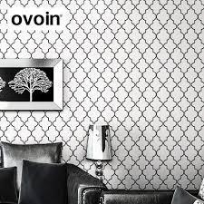 aliexpress com buy moroccan trellis black white modern geometric