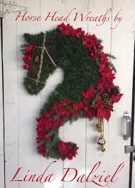 poinsettias and bells facebook horse head wreaths by linda