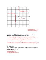 graphing rational functions u0026 finding asymptotes lesson plan tpt