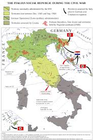 Map Of Germany And Italy by Italian Civil War 1943 1945 By Emanuele Mastrangelo Map Italy