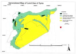 Map Of Syria by Gateway To Land And Water Information Syria National Report Land