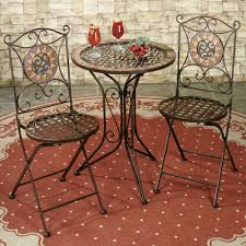 Wrought Iron Bistro Chairs Vintagetal Bistro Table And Chairs Wrought Iron Pub Outdoor Sets