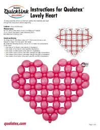 the very best balloon blog how to make a simple quick link heart