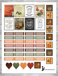 free thanksgiving themed printable planner stickers at