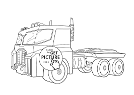 coloring optimus prime coloring page