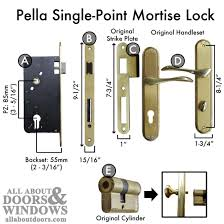 Pella Patio Door Hardware by How To Replace A Pella Single Point Mortise Lock With A Pz Of 85mm