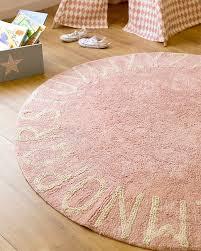 lorena canals round machine washable abc rug natural 100