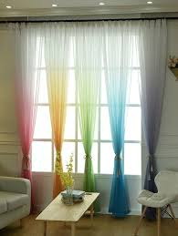 Ombre Sheer Curtains 2018 Ombre Sheer Tulle Curtain Decorative Window Screen Blue Gray