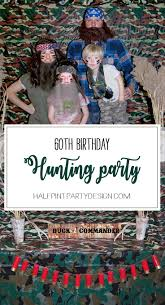 hunting party themed birthday halfpint party design