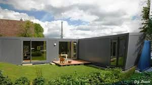 modern shipping container house in germany youtube