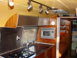 Trailer Kitchen Cabinets Kitchen Mini Airstream Trailer Bar Cabinet Mosaic Tile