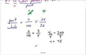 7th grade 5 2 solving percent problems using proportions mp4 youtube