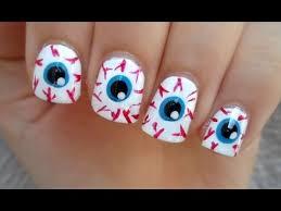 eye ball nails halloween nail art perfect for short nails