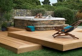 deck ideas backyard deck ideas with hot tub pool design ideas