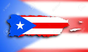 Puerto Rico Flag Map Of Puerto Rico Filled With The State Flag Stock Photo Picture