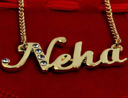 necklace with name ebay images Name necklace neha 18ct gold plated personalised indian birthday jpg