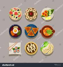 food vector korean food vector illustration set stock vector 287314514