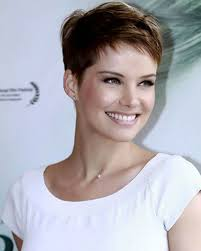 very short hairstyles for women with thick very short pixie