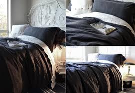 peppercorn dark grey rustic heavy weight linen pillow shams set of 2