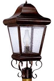 outdoor post mount lights belmont post light handmade outdoor electric copper lantern