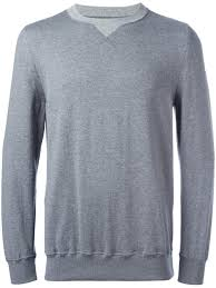 sacai crew neck sweatshirt 005grey men clothing sweatshirts
