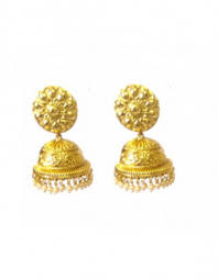 gold jhumka earrings design earrings intricate design golden jhumka earrings online shopping