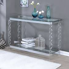 Sofa Console Tables by Console Tables For Entryway Chrome Sofa Table Clear Glass Acrylic