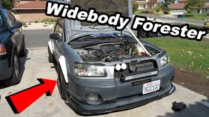 widebody jdm cars widebody subaru forester rocket bunny light install and jdm seats