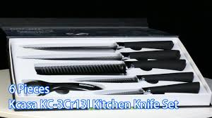 kcasa 6 pieces anti sticking kitchen knife set banggood com youtube