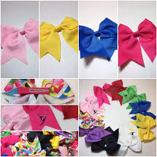 ribbon for hair that says gymnastics 10cm clip in gymnastic hair bows
