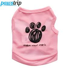 shirt pattern for dog 5 colors paw pattern dog vest summer puppy clothes chihuahua t shirt