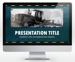 free widescreen template for presentations on construction